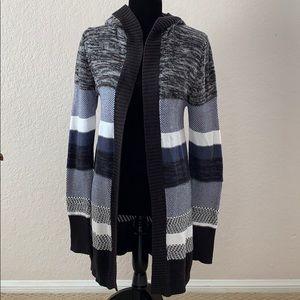 Roxy Long Cardigan Sweater with Hood